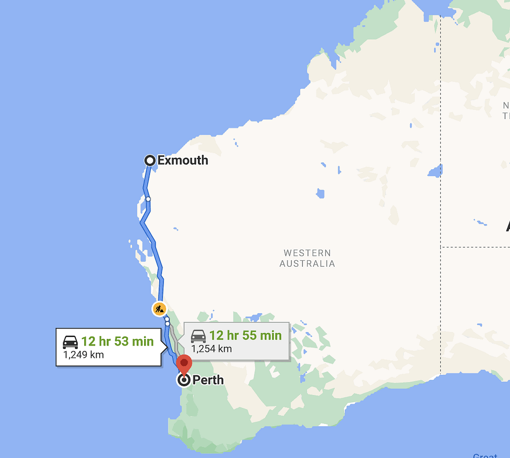 perth-to-exmouth-map